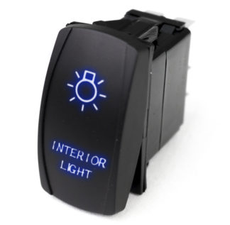 LED Rocker Switch w/ Blue LED Radiance (Interior Lights) - RSLJ57B