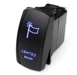 LED Rocker Switch w/ Blue LED Radiance (Lighted WHIP) - RSLJ61B