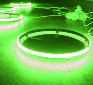 ColorClear 17in LED Wheel Kit (Green) - Complete kit for (4) Wheels - RS17G_a16