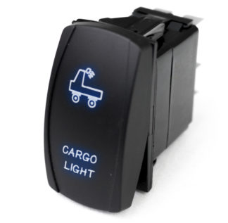 LED Rocker Switch w/ Blue LED Radiance (Cargo Light) - RSLJ68B