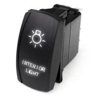 LED Rocker Switch w/ White LED Radiance (Interior Lights) - RSLJ57W