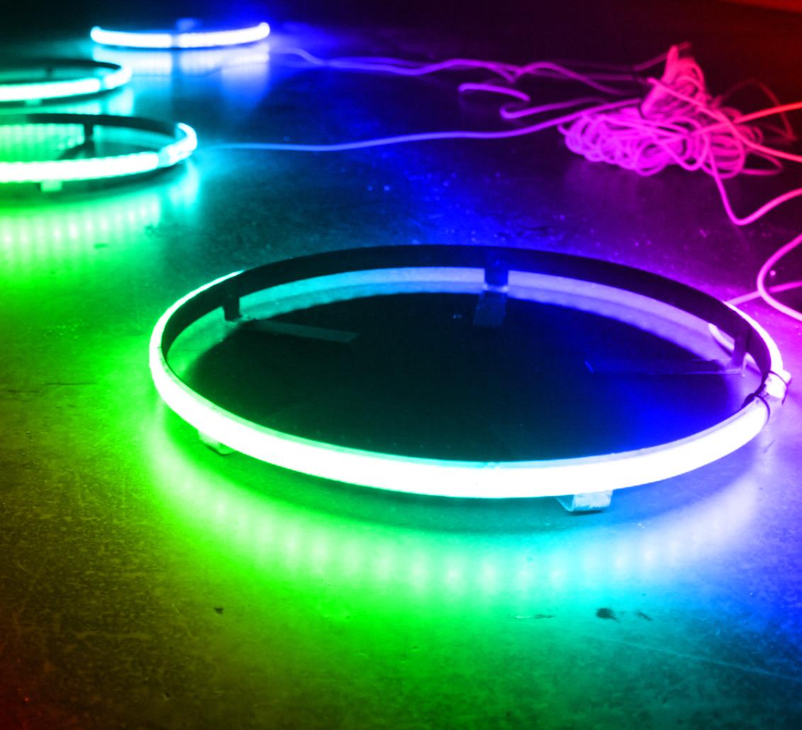 Led Wheel Light Kit - Coloradapt U00ae 15 5in Led Wheel Kit  Rgb Multi-color