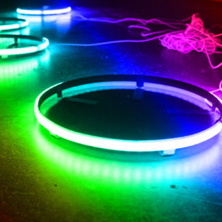 2-Row Race Sport® ColorADAPT® 15.5in LED Wheel Kit in RGB Multicolor - Comes with 4 mounting rings recessed with IP68 RGB LED's - RSRGB152R_a14