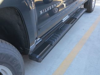 Running Board - S Series Cab Length OE Style; 2007-2018 GMC Sierra Extended Cab/ Double Cab (Black)