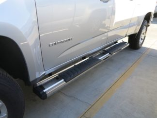 Running Board - S Series Cab Length OE Style; 2015-2018 GMC Canyon Crew Cab (SILVER)
