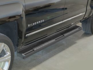 Running Board - S Series Cab Length OE Style; 2007-2018 GMC Sierra Crew Cab (Black)