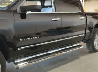Running Board - S Series Cab Length OE Style; 2007-2018 GMC Sierra Crew Cab (SILVER)