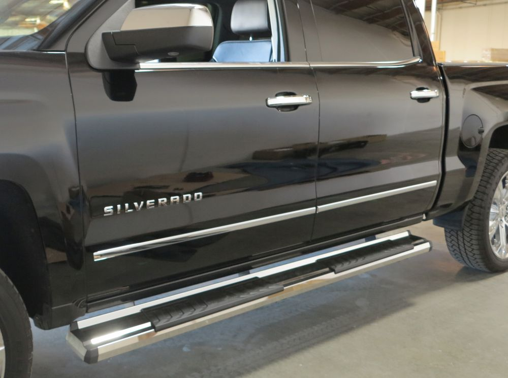 Gmc Sierra Running Boards >> Running Board S Series Cab Length Oe Style 2007 2018 Gmc Sierra Crew Cab Silver