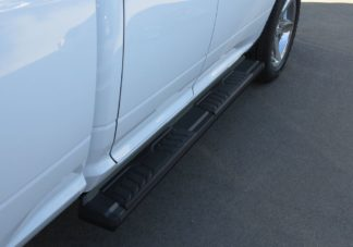 Running Board - S Series Cab Length OE Style; 2009-2018 Dodge Ram Quad Cab (Black)
