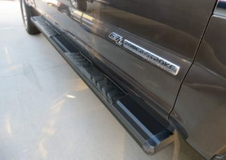 Running Board - S Series Cab Length OE Style; 2017-2018 Ford F350 Crew Cab (Black)