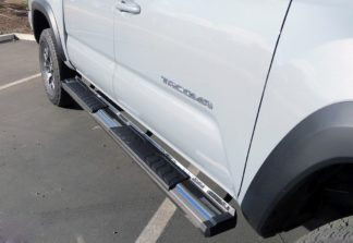Running Board - S Series Cab Length OE Style; 2005-2018 Toyota Tacoma Double/Crew Cab (SILVER)