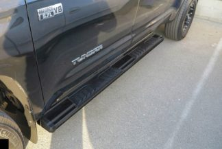 Running Board - S Series Cab Length OE Style; 2007-2018 Toyota Tundra Double Cab (Black)