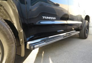 Running Board - S Series Cab Length OE Style; 2007-2018 Toyota Tundra Double Cab (SILVER)