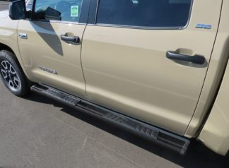 Running Board - S Series Cab Length OE Style; 2007-2018 Toyota Tundra CrewMax Cab (Black)