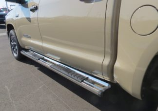 Running Board - S Series Cab Length OE Style; 2007-2018 Toyota Tundra CrewMax Cab (SILVER)