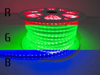 110V Atmosphere Waterproof 5050 LED Strip Lighting (RGB Multi-Color) - RS-5050-164FT-RGB