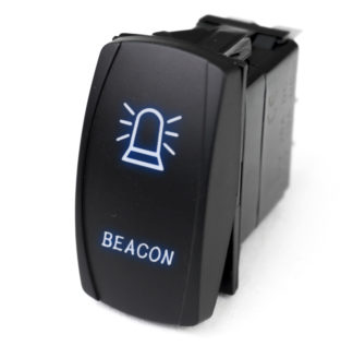 LED Rocker Switch w/ Blue LED Radiance (Beacon) - RSLJ51B