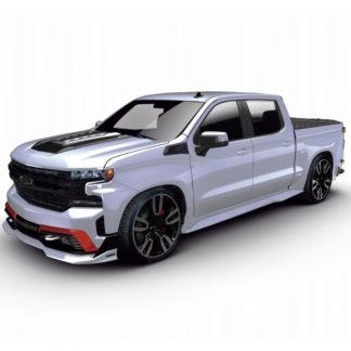 2019 & Up CHEVY SILVERADO STREET SERIES GROUND EFFECTS FULL BODY KIT (GLOSSY BLACK FINISH)