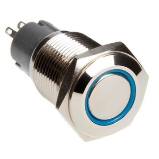 LED Two Position On/Off Switch (Blue) - RS-2P16MM-LEDB