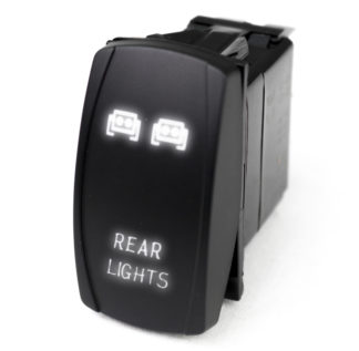 LED Rocker Switch w/ White LED Radiance (Rear Lights) - RSLJ60W