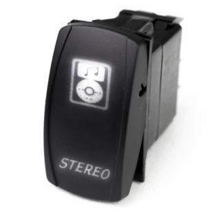 Race Sport® LED Rocker Switch with WHITE LED Radiance - Stereo - RSLS23W