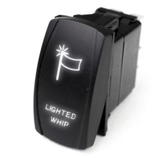 LED Rocker Switch w/ White LED Radiance (Lighted WHIP) - RSLJ61W
