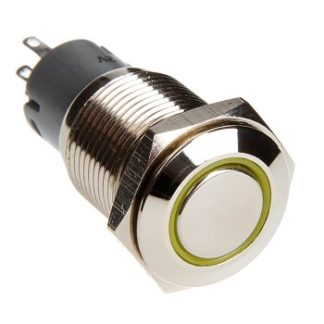 LED Two Position On/Off Switch (Yellow) - RS-2P16MM-LEDY