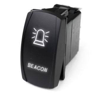 LED Rocker Switch w/ White LED Radiance (Beacon) - RSLJ51W
