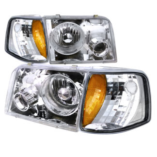 93-97 Ford Ranger Combo Projector HeadLight Chrome With Corner Light