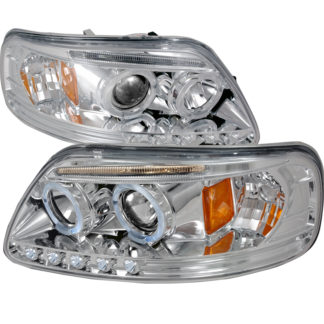 97-03 Ford F150 Halo LED Projector Chrome