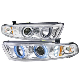 99-02 Mitsubishi Galant Projector HeadLights Chrome