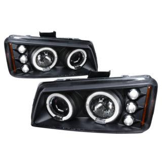 03-06 Chevrolet Silverado Halo LED Projector Black