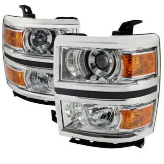 14-16 Chevrolet Silverado Chrome Projector HeadLights
