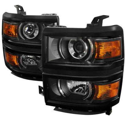 14-16 Chevrolet Silverado Black Projector HeadLights