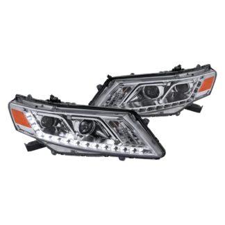 10-12 Honda Crosstour Chrome Projector HeadLights With LED