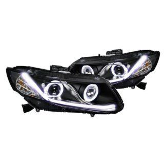 12-13 Honda Civic R8 Style Projector HeadLight - Black