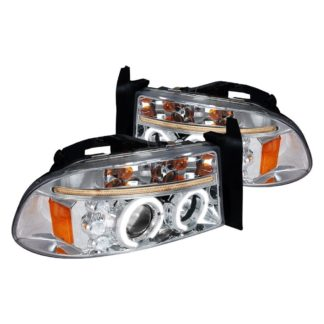 97-04 Dodge Dakota Halo LED Projector Chrome