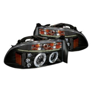 97-04 Dodge Dakota Halo LED Projector Black