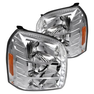 07-10 GMC Yukon Halo LED Projector Chrome