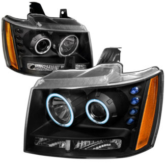 07-09 Chevrolet Suburban CCFL Halo Projector HeadLights Black