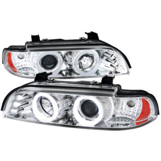 01-03 BMW 3 Series SMD LED Iced Halo Projector HeadLight Chrome Housing