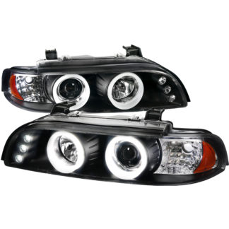 01-03 BMW 3 Series SMD LED Iced Halo Projector HeadLight Black Housing