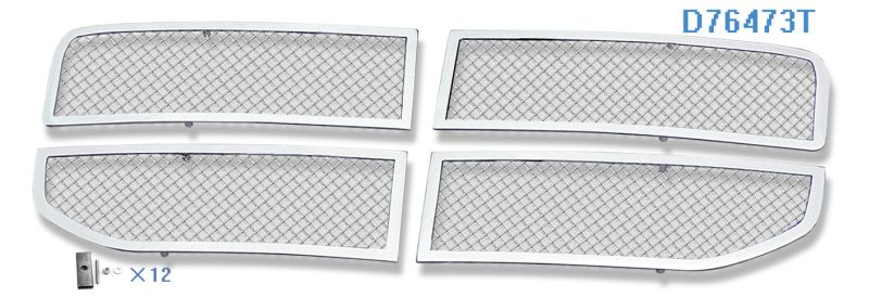 Mesh Grille 2007-2011 Dodge Nitro  Main Upper Chrome