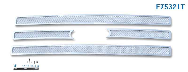 Mesh Grille 2007-2014 Ford Expedition  Main Upper Chrome