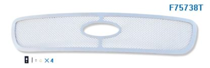 Mesh Grille 1997-1998 Ford Expedition  Main Upper Chrome With Logo Show Not For Bar Style Model