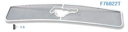 Mesh Grille 2005-2009 Ford Mustang Main Upper Chrome V6 With Logo Show