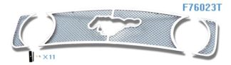 Mesh Grille 2005-2009 Ford Mustang  Main Upper Chrome GT V8 With Logo Show
