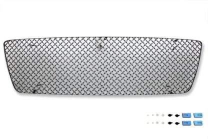 X Mesh Grille 2004-2008 Ford F150  Main Upper Chrome Surface With Black Paint Honeycomb Style Not For FX2/FX4 and King Ranch Model