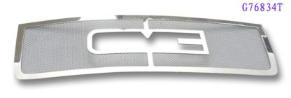 Mesh Grille 2011-2014 GMC Sierra Main Upper Chrome With Logo Show (Not For Denali)