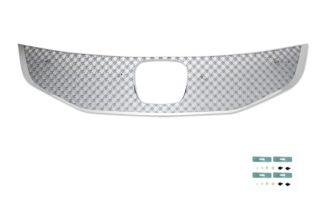X Mesh Grille 2011-2012 Honda Accord  Main Upper Chrome Sedan